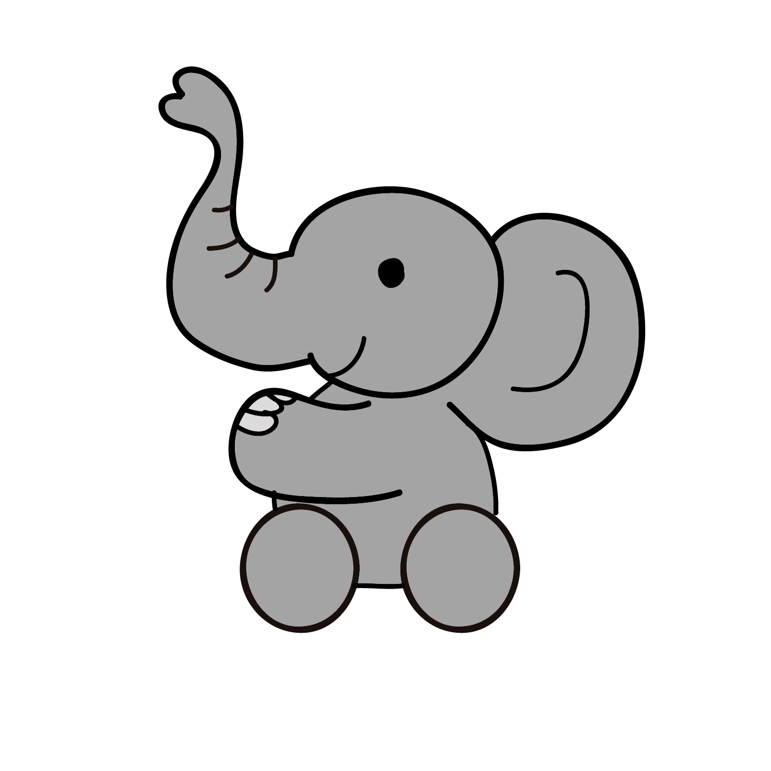 Small clipart cartoon baby Clip picture baby Elephant Baby