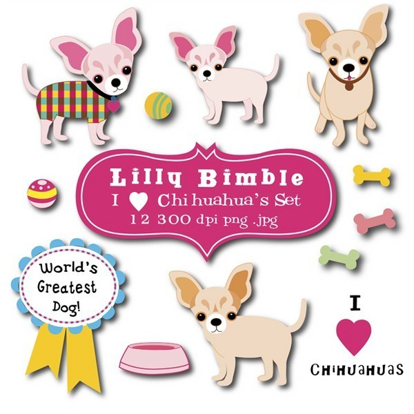 Small clipart chiwawa Chihuahua Art Chihuahua $1 Club