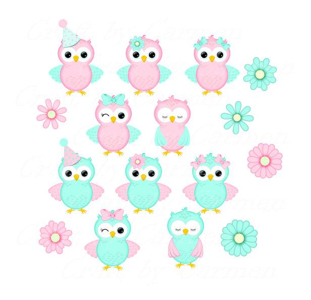 Small clipart cute And Cute owls scrapbook scrapbook
