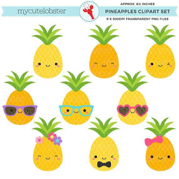 Small clipart cute Clipart Cute instant Pineapple pineapples