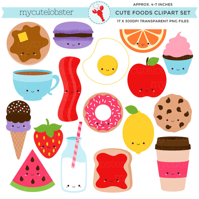 Small clipart cute A This bacon Set file