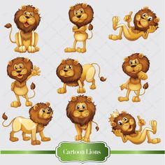 Small clipart cute lion INSTANT Cute Clipart Cards/Crafts Art