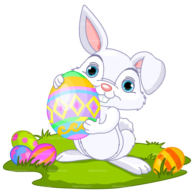 Simple clipart easter bunny #5