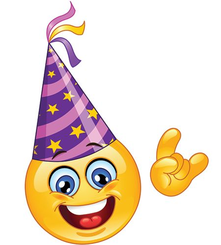 Celebration clipart smiley face Smiley Pinterest Hat Party on