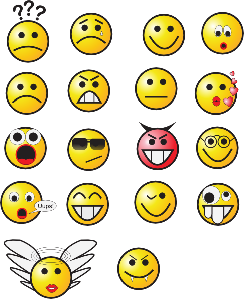 Smileys clipart excited face · PNG: Clip com large