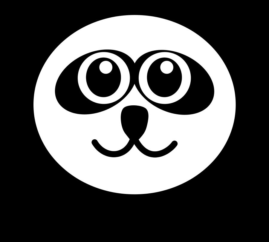 Small clipart funny Cat face panda 300pixel Funny