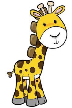 Simple clipart giraffe #4
