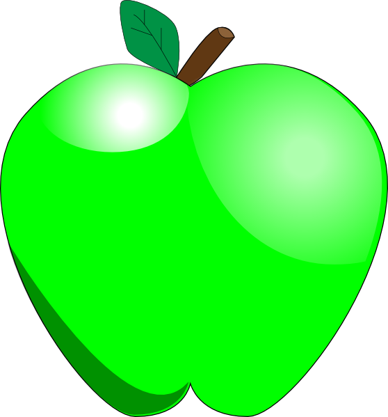 Apple clipart cute green · PNG: art vector small
