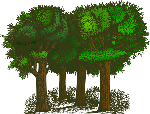 Wilderness clipart group tree Clip · clip online