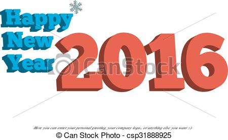 Small clipart happy new year Of  Happy Year with