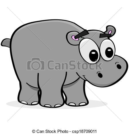 Small clipart hippo  of illustration Clip hippo