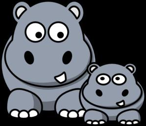 Small clipart hippo Free at  clip Clip