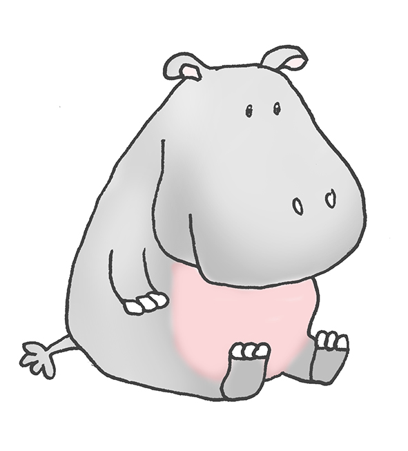 Small clipart hippo Baby Clip  Hippopotamus Hippo