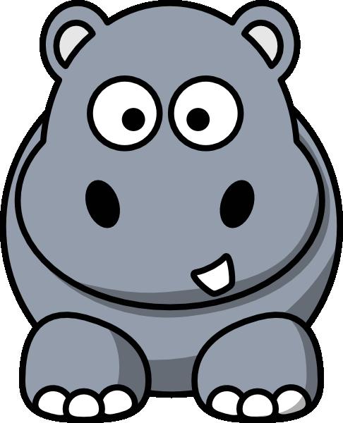 Small clipart hippo Art Hippo online Clker ·