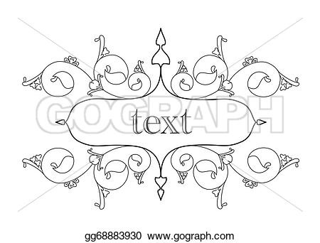 Small clipart horizontal Header Small  old Stock