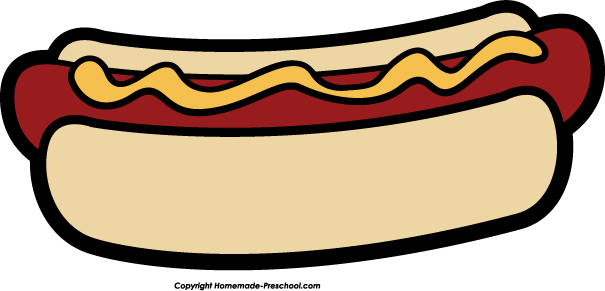 Hot Dog clipart black and white & Dog Hot clipart Clipart