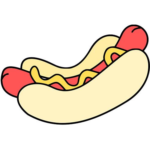 Cartoon clipart hot dog Clipart dog hot image clipart