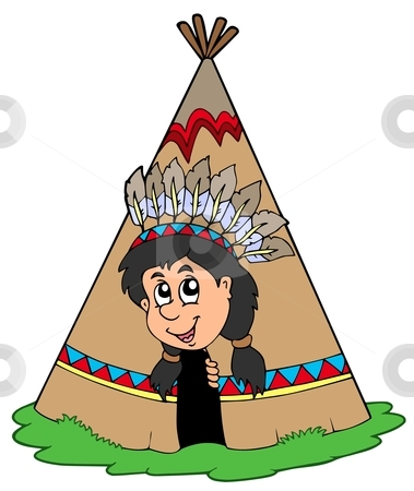 Small clipart indian Vector tepee Indian in Indian