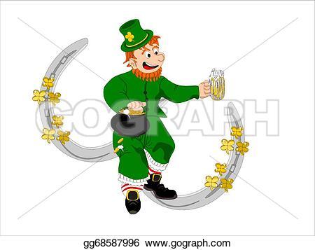 Small clipart leprechaun Pot leprechaun irish beer with