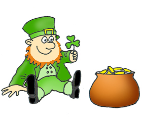Small clipart leprechaun Day Patrick's with St shamrock