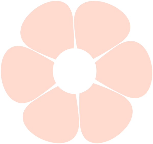 Small clipart light pink  Flower PNG: vector ·