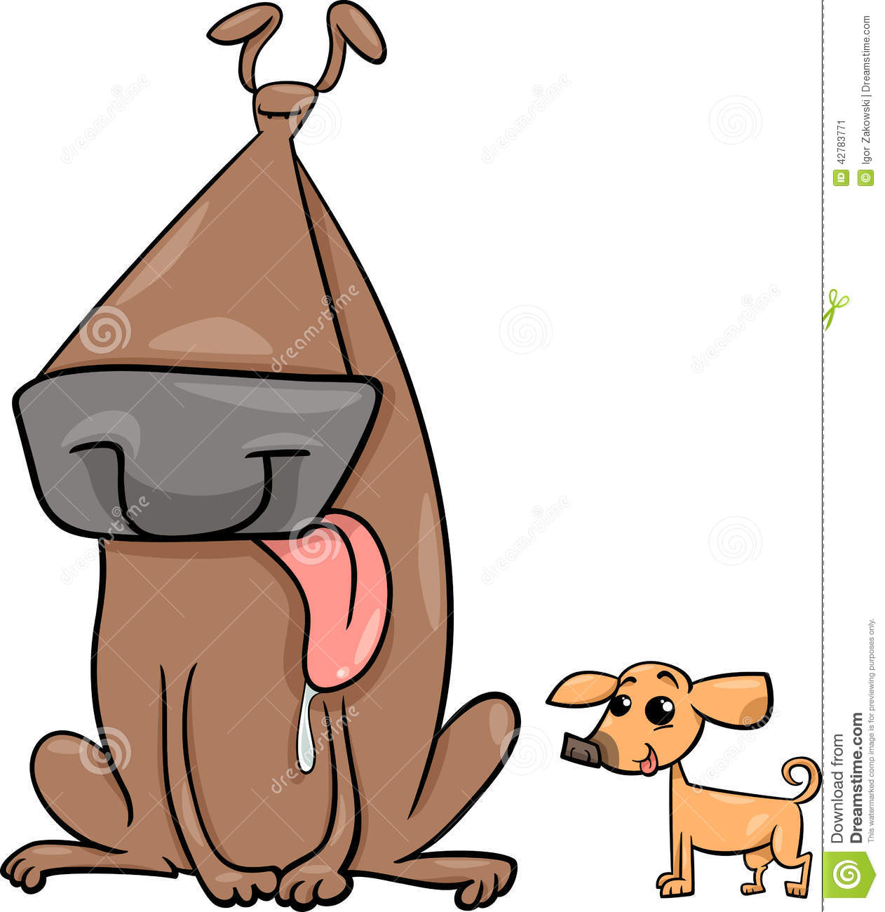 Small clipart little Big Small Cartoon little Dogs