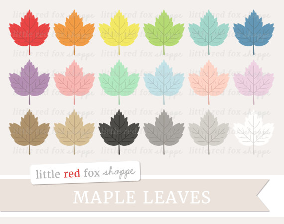 Small clipart maple leaf From Maple Woods Commercial Clipart