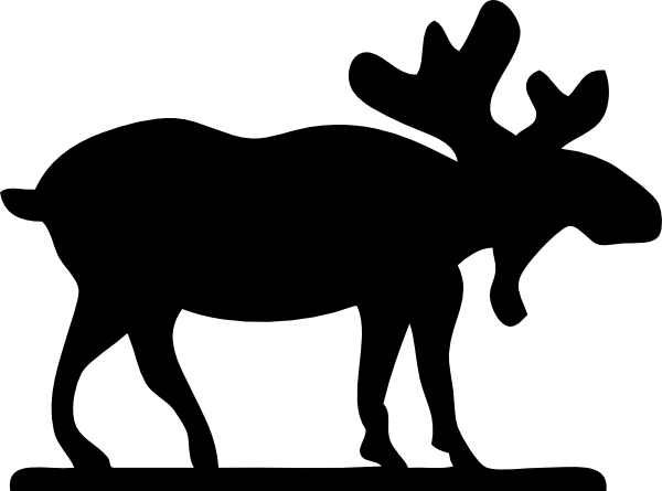Small clipart moose Large · art  Silhouette