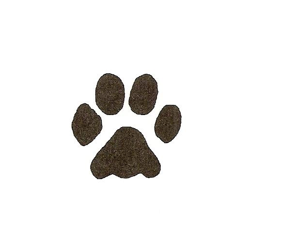 Small clipart paw print Clip Art Free Clipart Dog