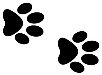 Small clipart paw print Clip clipart Small print art