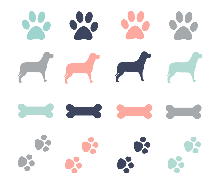 Bones clipart paw print Clipart bone cliparts Dog Art