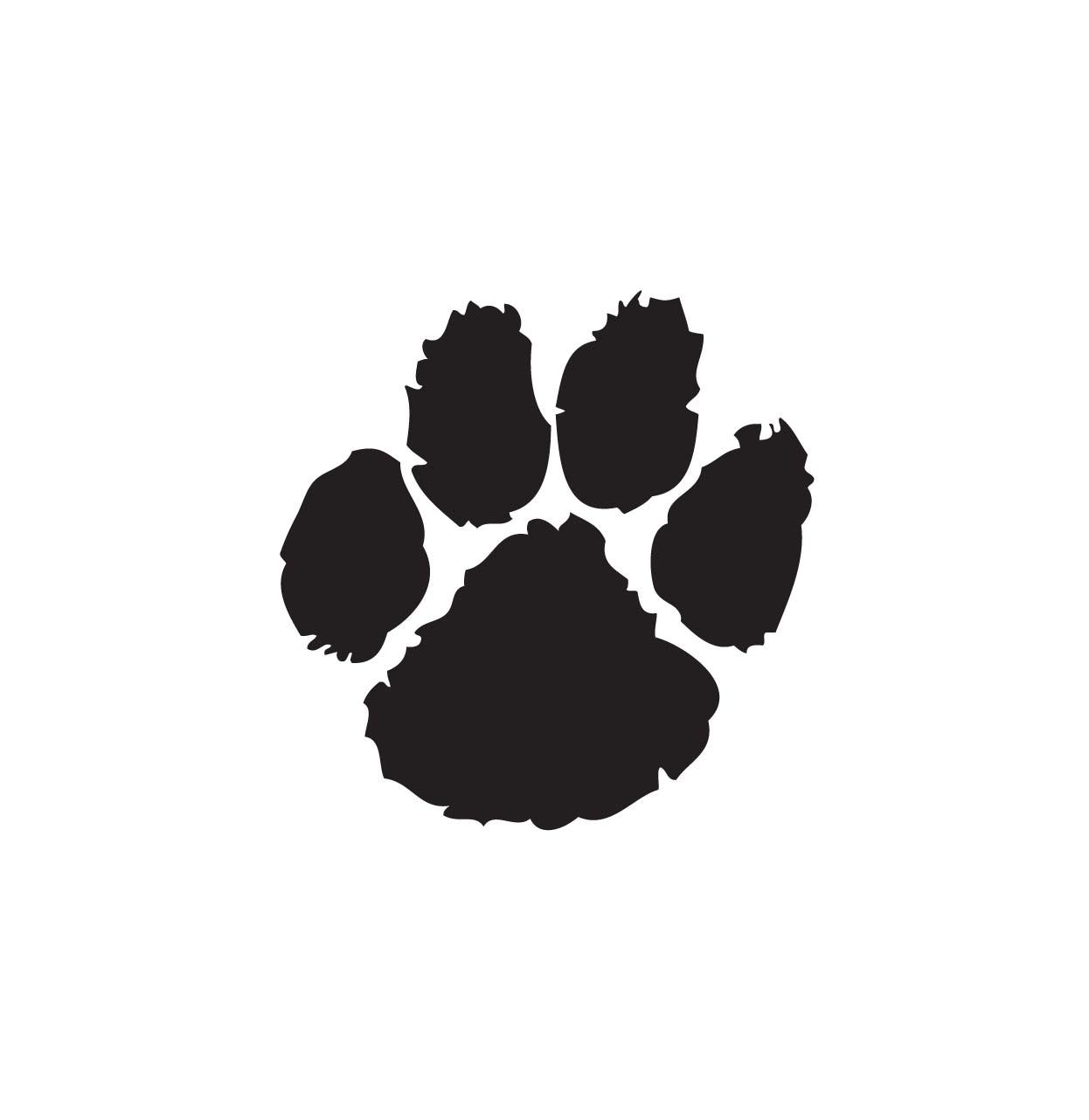 Wildcat clipart paw print Pawprint clip Paw paw clip
