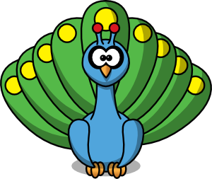 Small clipart peacock Clipart Peacock ClipartMe Clipart Cartoon