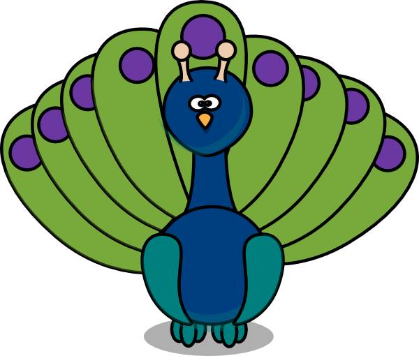 Small clipart peacock Clip royalty ·  small
