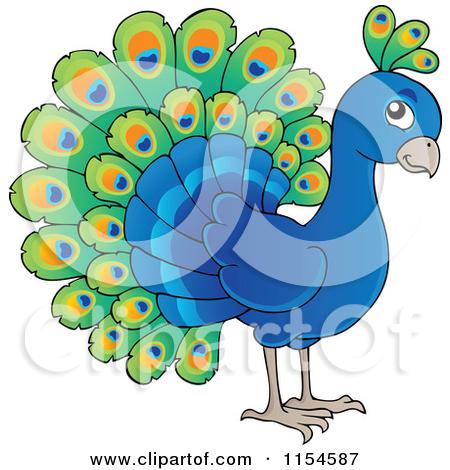 Peafowl clipart cute  visekart of The Cute