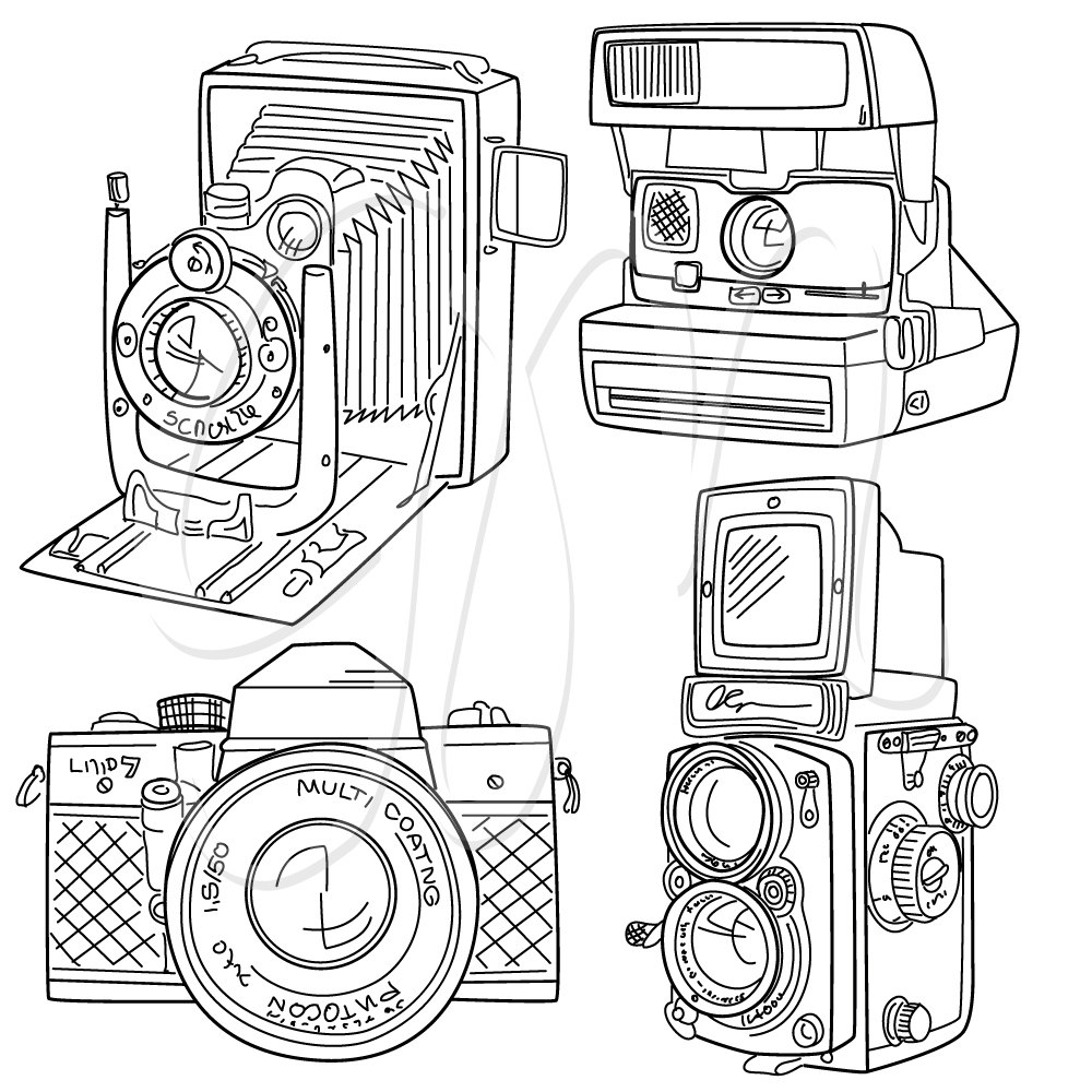 Small clipart pencil drawing And 15 paper  set