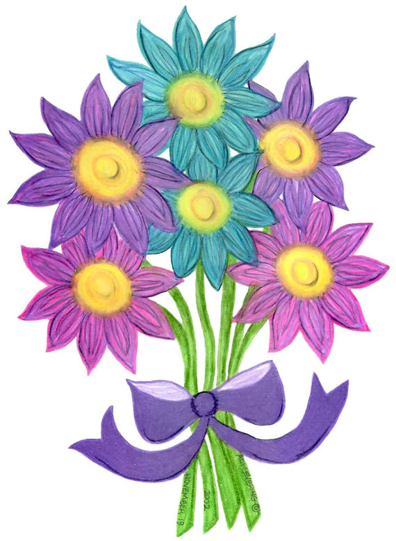 Small clipart pencil drawing Drawing  Bouquet Paper Flower