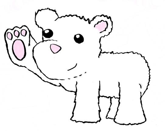 Small clipart polar bear Bear Polar clipart kid clipart