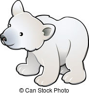 Small clipart polar bear Cute vector Vector A Clipart