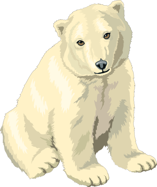 Small clipart polar bear Small Polar · Sitting at