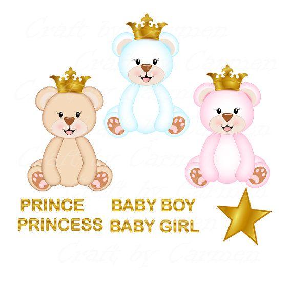 Small clipart prince Princess ON on bear Teddy