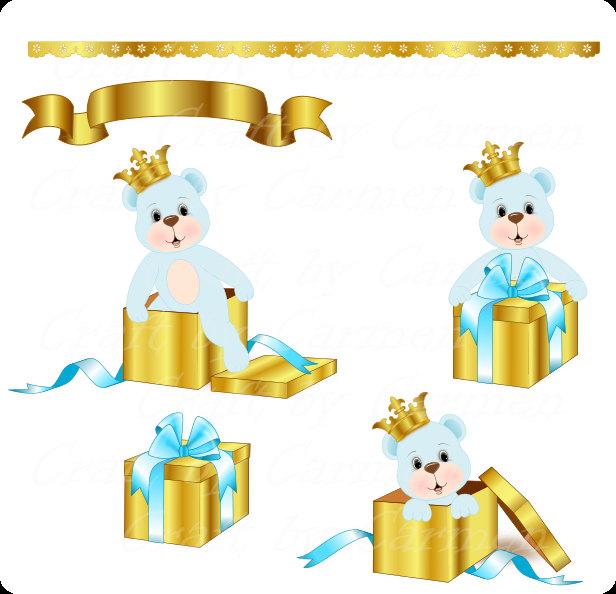 Small clipart prince Prince gift teddy bear teddy