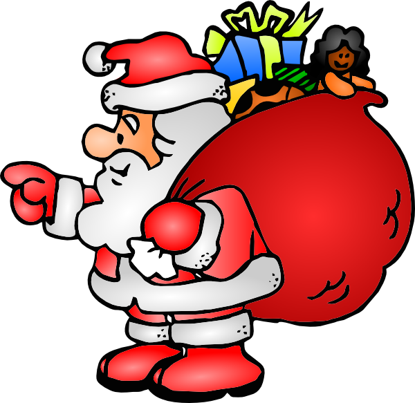 Santa clipart transparent background #8