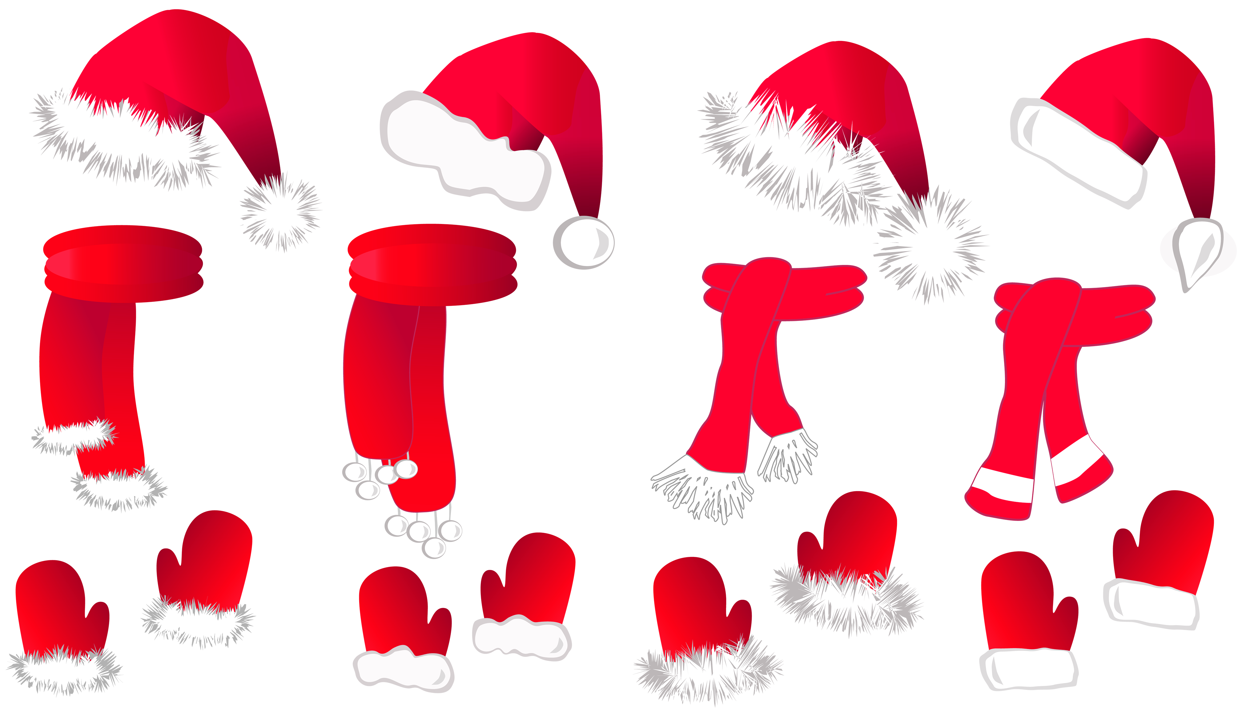 Small clipart santa hat Cliparting scarfsllection Transparent Clipart Hat