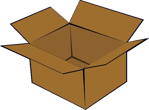 Box clipart cartoon Vector · com art small