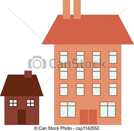 House clipart big and small Big Big small clipart ClipartFest