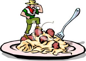 Spaghetti clipart italian person And Top of of Small