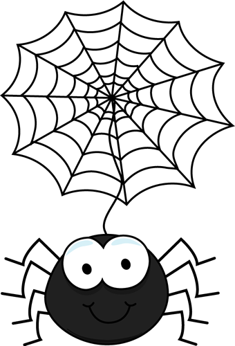 Drawn spider web cartoon Coloring from web In Search