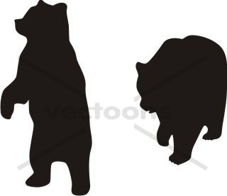 Wilderness clipart grizzly Bear them on backs silhouette