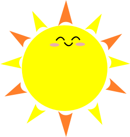 Small clipart sunshine Sun SMALL Clipart Happy